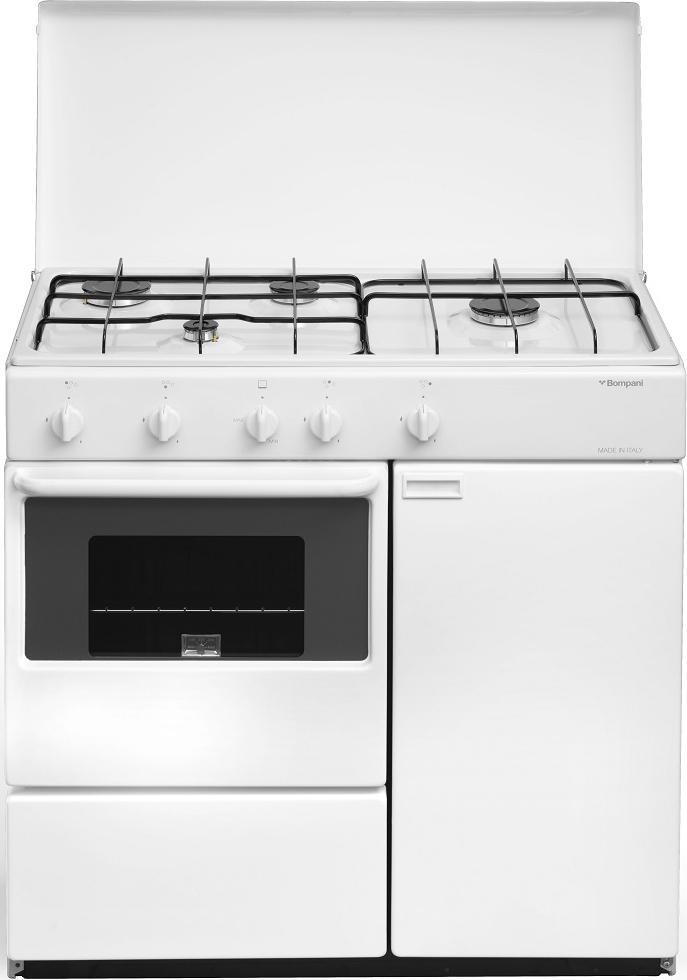 Bompani Cucina a Gas 4 Fuochi Forno a Gas Larghezza x Profondità 85x45 cm Classe energetica A ...