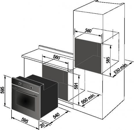 Forno de longhi yma 6 p serie young forno da incasso elettrico ventilato con grill - Forno elettrico ventilato da incasso ...