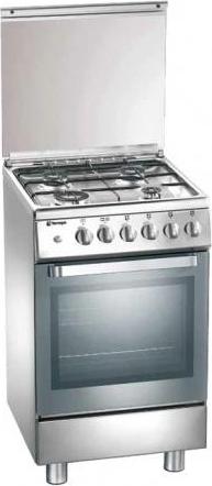 Tecnogas cucina a gas 4 fuochi forno elettrico ventilato con grill larghezza x profondit 50x50 - Cucina con forno ventilato ...