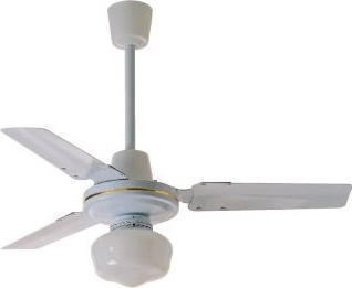 Zephir ventilatore da soffitto con luce 3 pale lampadario for Lampadario a pale brico